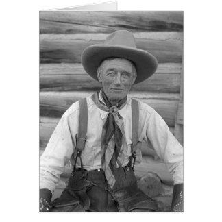 Viejo vaquero tarjeta de felicitación
