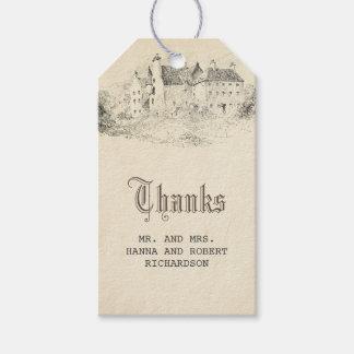 Viejo vintage del boda del cuento de hadas del etiquetas para regalos
