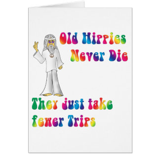 Viejos hippies tarjeta