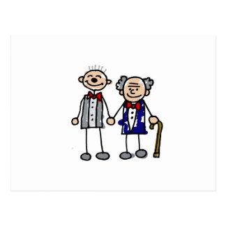 Viejos pares gay postal