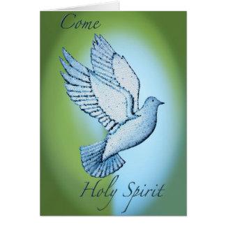 Viene el Espíritu Santo Tarjeta De Felicitación