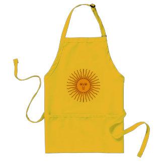 Viene la decoración del icono de Sun Delantal
