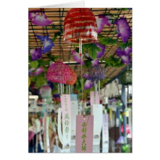 Viento-carillones japoneses (fuurin) tarjeta de felicitación