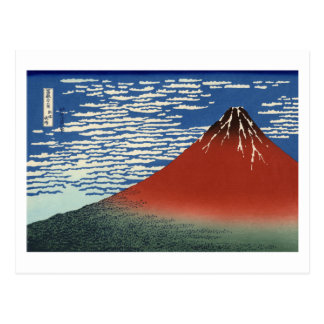 Viento del sur, cielo claro por Hokusai Postal