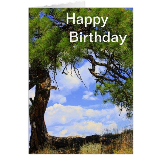 Viento soplado - tarjeta del feliz cumpleaños