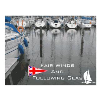 Vientos justos de la bandera BRITÁNICA después de  Postal