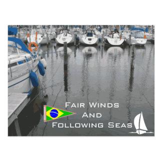 Vientos justos después del refrán náutico el Brasi Postal
