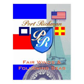 Vientos justos y puerto de mares de siguiente postal
