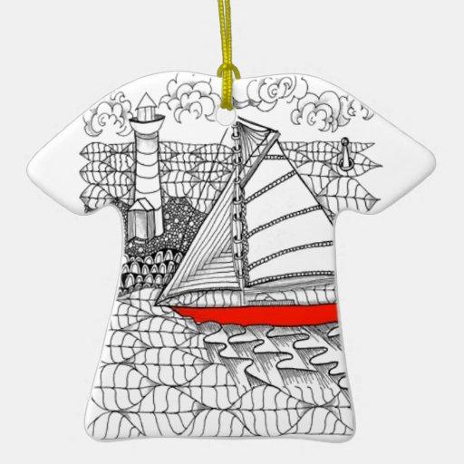 Vientos justos Zentangle para los marineros Ornamento Para Arbol De Navidad