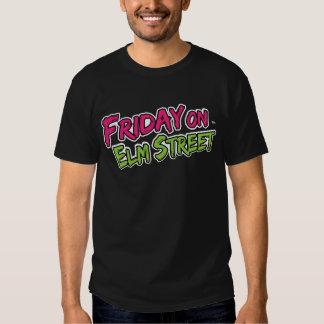 Viernes en logotipo de la calle del olmo camisetas