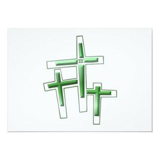 Viernes Santo - 3 cruces Invitación 12,7 X 17,8 Cm