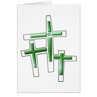 Viernes Santo - 3 cruces Tarjeta De Felicitación