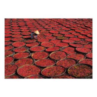 Vietnam. Sequedad del caramelo en cestas debajo de Arte Fotográfico