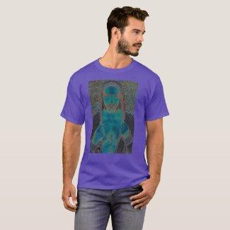 View in blue camiseta