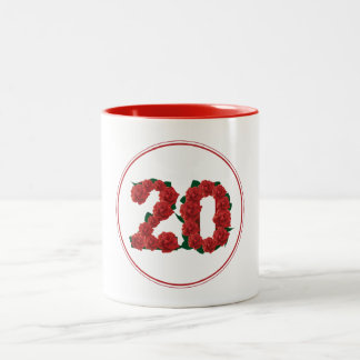 Vigésima taza del rojo del aniversario del