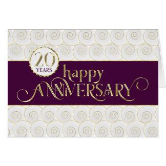 Vigésimo aniversario del empleado - oro tarjeta de felicitación
