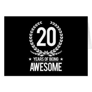 vigésimo Cumpleaños (20 años de ser Tarjeta De Felicitación