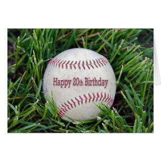 vigésimo Cumpleaños con béisbol