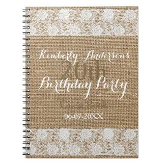 Vigésimo libro de visitas del cumpleaños de la cuaderno