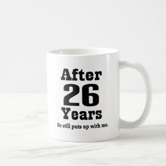 vigésimo sexto Aniversario (divertido) Taza De Café