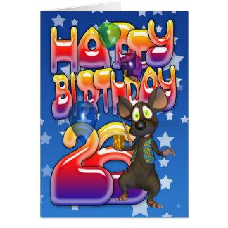 vigésimo sexto Tarjeta de cumpleaños, feliz cumple