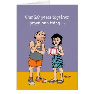 vigésimo Tarjeta del aniversario de boda: El amor