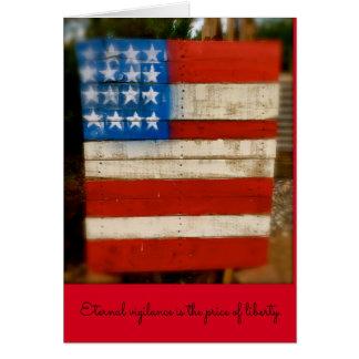 Vigilancia eterna del día de veterano tarjeta de felicitación
