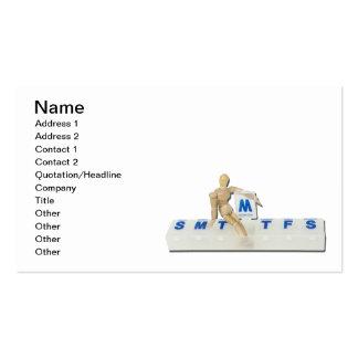 Vigilante médico diario plantilla de tarjeta de visita