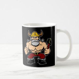 Viking enojado negro taza de café