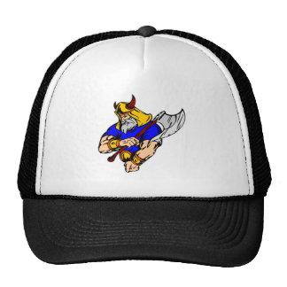 Viking negro que ruega gorras de camionero