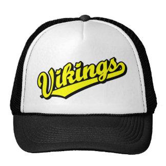 Vikingos en amarillo gorra