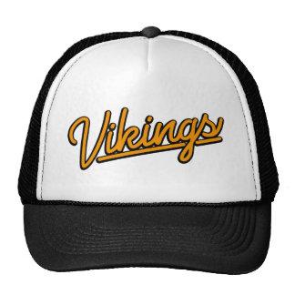Vikingos en naranja gorras