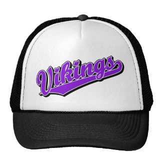 Vikingos en púrpura gorra