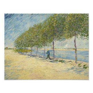 Vincent van Gogh - a lo largo del Sena Impresion Fotografica