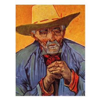 Vincent van Gogh - ancianos del autorretrato Postal