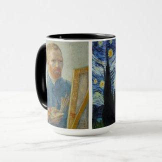 Vincent van Gogh - autorretrato y taza de la noche