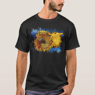 Vincent van Gogh - dos girasoles cortados - bella Camiseta
