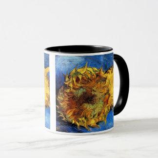 Vincent van Gogh - dos girasoles cortados - bella Taza