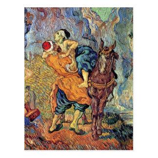 Vincent van Gogh - el buen samaritano - bella arte Postal