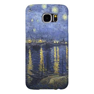 Vincent van Gogh-Estrellado Night sobre el Rhone Funda Samsung Galaxy S6