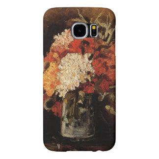 Vincent van Gogh-Florero con los claveles Funda Samsung Galaxy S6
