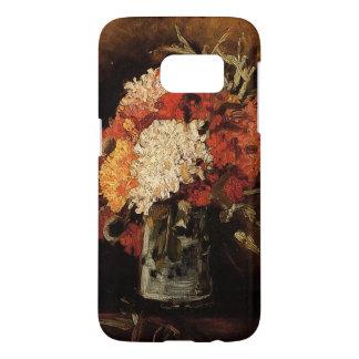 Vincent van Gogh-Florero con los claveles Funda Samsung Galaxy S7