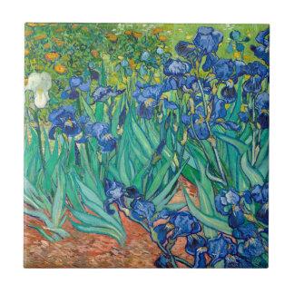 VINCENT VAN GOGH - iris 1889 Azulejo Cuadrado Pequeño