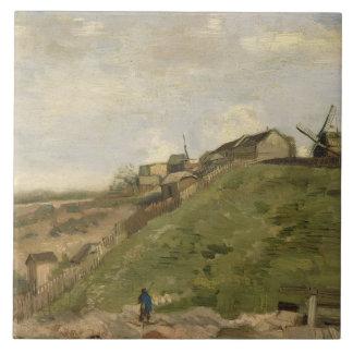Vincent van Gogh - la colina de Montmartre Azulejo Cuadrado Grande