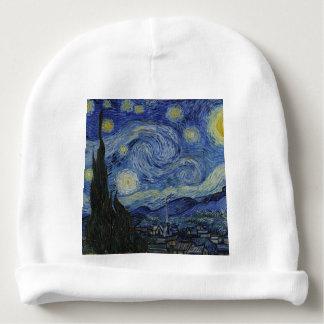 Vincent van Gogh - noche estrellada. Pintura del Gorrito Para Bebe