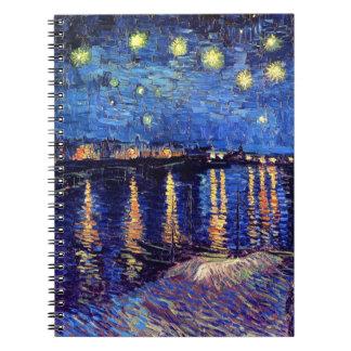 Vincent van Gogh - noche estrellada sobre el Rhone Libros De Apuntes