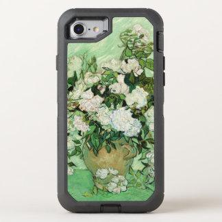 Vincent van Gogh que pinta, rosas 1890 Funda OtterBox Defender Para iPhone 7