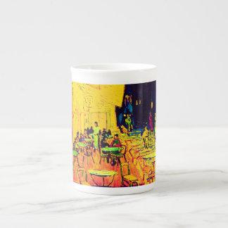 Vincent van Gogh - terraza del café en el arte pop Taza De Té