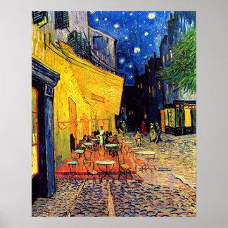 Vincent van Gogh - terraza del café en la bella Póster
