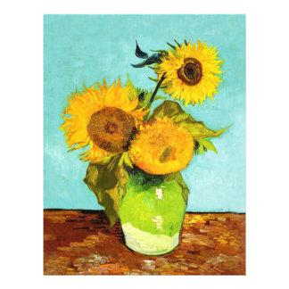 Vincent van Gogh tres girasoles en un florero Folleto 21,6 X 28 Cm